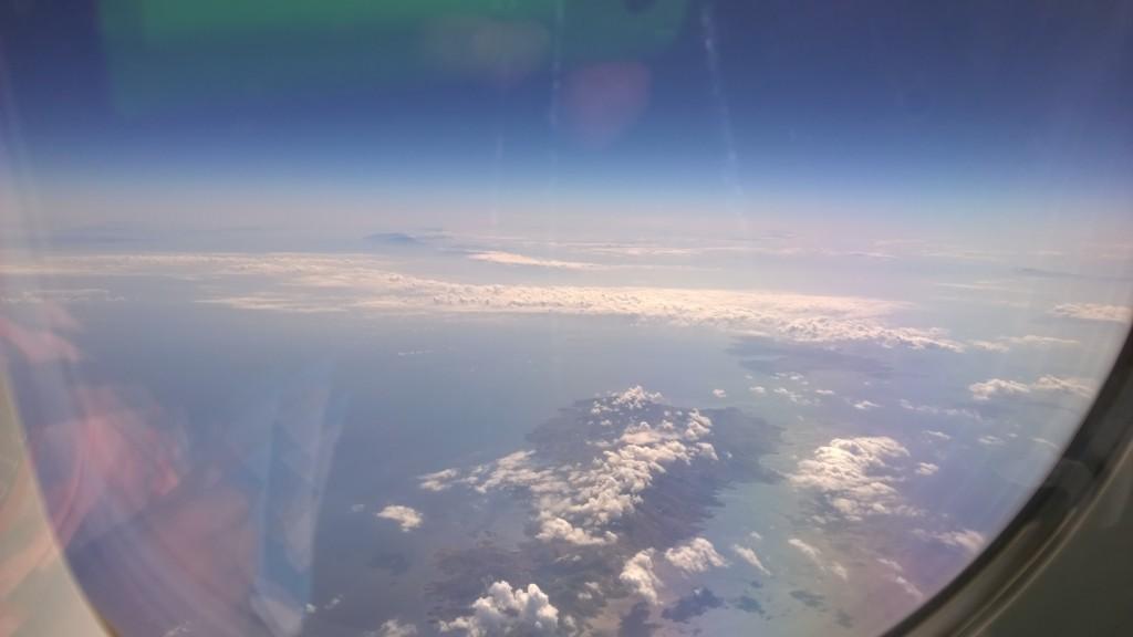 Lentokoneella kohti Kreikkaa ja Kreetan saarta.